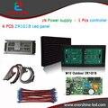 DIY Kit M10 4 pcs ao ar livre 2R1G1B cor módulo de LED + 1 Pcs controlador de led + 1 Pcs poder JN fonte de alimentação, led tela de exibição de publicidade