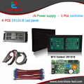 DIY Kit M10 4pcs outdoor 2R1G1B color LED module+1 Pcs led controller+1 Pcs JN power supply,led advertising display screen