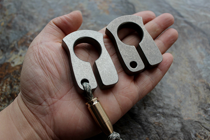 Hotsale Self-defense EDC Titanium Alloy Multipurpose Tools Meteorite Crater Style Polished Or Stonewash Refers Can Broken Window tito edc titanium alloy classic gifts for man multipurpose toy tools meteorite keychain outdoors tools titanium spinner