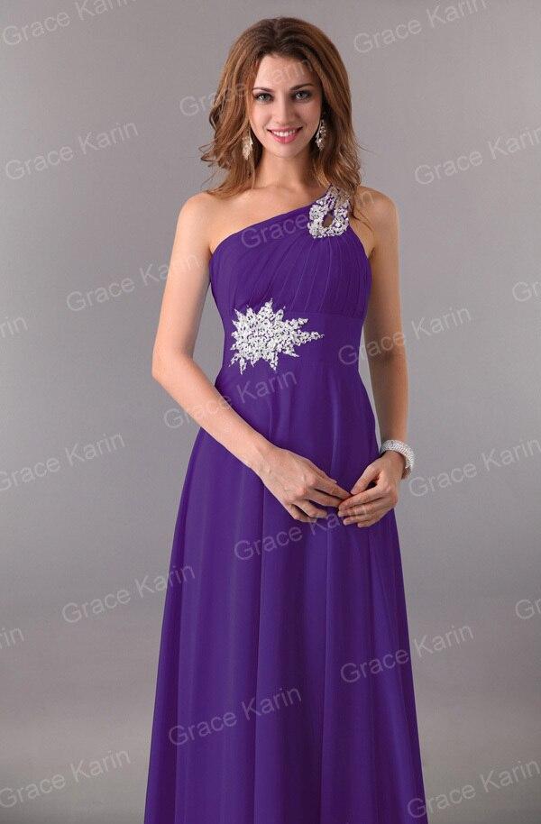 Women Elegant Cheap Long Evening Dresses One Shoulder Formal