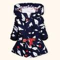 BibiCola spring autumn baby girls/boys windproof trench outerwear children thicken warm Hooded coat kids jacket 2-8 Y