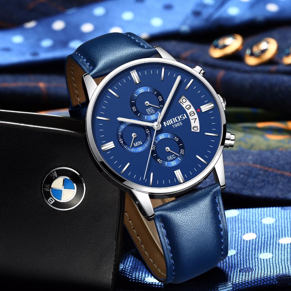 Relojes de hombre NIBOSI Relogio Masculino, relojes de pulsera de cuarzo de estilo informal de marca famosa de lujo para hombre, relojes de pulsera Saat 48