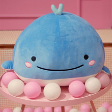 Kawaii Plush Toys 18*18*13cm Stuffed Animals Cartoon Cute Soft Toys Blue Whale Kawaii Plush Pillow Toys Children Stuffing Doll