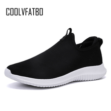 Купить с кэшбэком COOLVFATBO 2019 New Breathable Men Sneakers Male Shoes Adult High Quality Comfortable Non-slip Soft Mesh Men Shoes