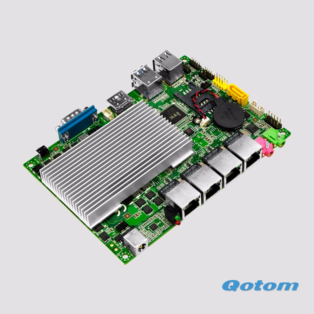 2017 NEW 4 Lan 3.5 Industrial Motherboard , Processor 3215U (2M Cache, 1.70 GHz, Broadwell), Support Win OS/Linux Fanless X86 wavelets processor