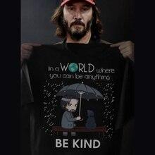 Keanu Reeves Em UM Mundo Onde Você Pode Ser Qualquer Coisa de Algodão Preto  Homens T-Shirt Dos Desenhos Animados t shirt homens . b3e8dc97b7
