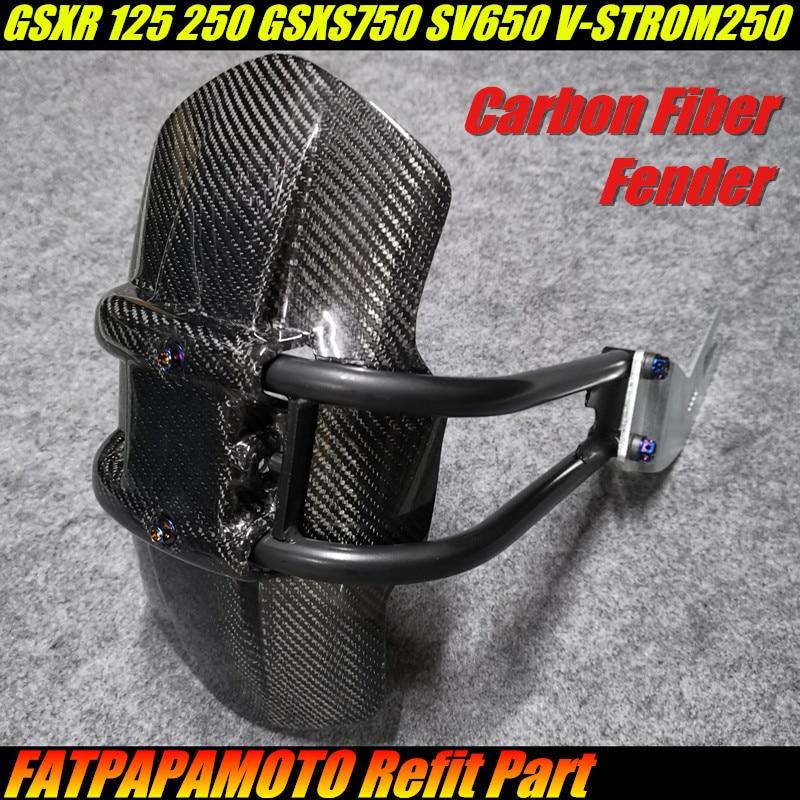 FOR SUZUKI GSXR 125 250 GSXS750 SV650 V-STROM 250 Integr Motorcycle Accessories 100% Carbon Fiber Rear Tire FenderFOR SUZUKI GSXR 125 250 GSXS750 SV650 V-STROM 250 Integr Motorcycle Accessories 100% Carbon Fiber Rear Tire Fender