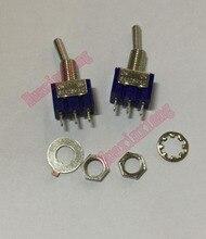 100 قطعة/الوحدة MTS 102 تبديل مفاتيح صغيرة 6A/125VAC ON ON 3Pin SPDT