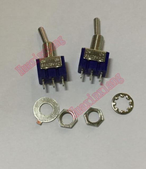 100 יח\חבילה MTS 102 מיני Toggle מתגי 6A/125VAC על על 3Pin SPDT