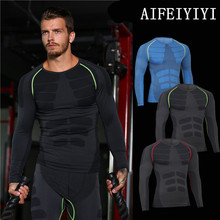 2017 Winter heat mens muscle Base Layer Long sleeve physique shapers Breathable fast dry thermal underwear