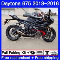 Bodywork For Triumph Daytona 675 13 14 15 16 Body 89NO.1 Daytona675 13 16 Daytona 675 2013 2014 2015 2016 Fairings Black silvery