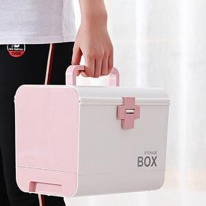 Image 4 - בית ערכת העזרה הראשונה רפואת תיבת אחסון קופסא פלסטיק מיכל חירום ערכת נייד רב שכבתי קיבולת גדולה רפואה חזה