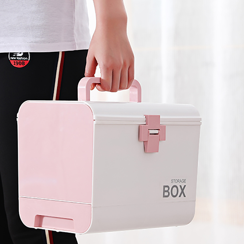 Image 4 - Home First Aid Kit Medicine Box Storage Box Plastic Container  Emergency Kit Portable Multi layer Large Capacity Medicine ChestStorage  Boxes