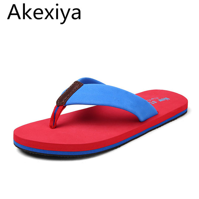 e361f8c70660 Akexiya NEW Summer Street Fashion Luxury Brand 4 Color Antiskid Toes Flat  Sandals Male Flip Flops Casual Beach Slippers