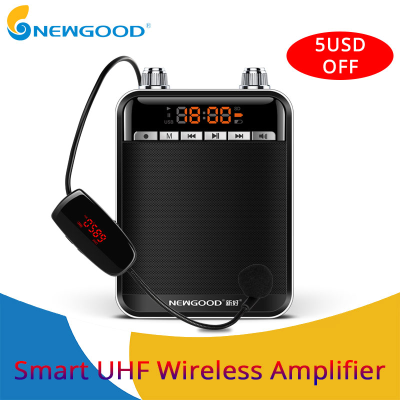 Smart Wireless Portable Voice Amplifier Loud Speaker With UHF Wireless Microphone Megaphone For Teaching Tour Guide Yoga цена и фото