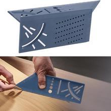 Деревообработка Scribe Mark Line Gauge Т-образная линейка отверстие Scribing Gauge алюминиевая вычеркнутая линейка Столярный измерительный инструмент Прямая поставка