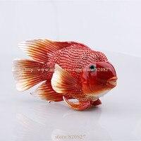 Große Handgemachte emaille fisch form promo geschenke neue nette schmuck box rote fische box kristalle schmuck box fisch schmuckschachtel rot