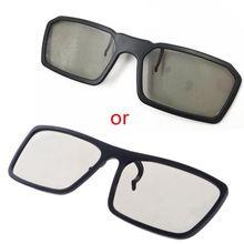 1 шт клип на Тип 3D очки круговой Пассивные Поляризационные для ТВ реального 3D Кино 0,22 мм-L060 Лидер продаж