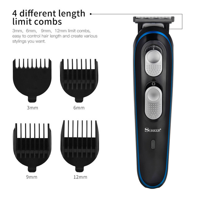 3 in 1 Electric Hair Clipper Professional Hair Trimmer Rechargeable Beard Trimmer Hair Cutting Machine Trimer Men Haircut Kit PJ 5