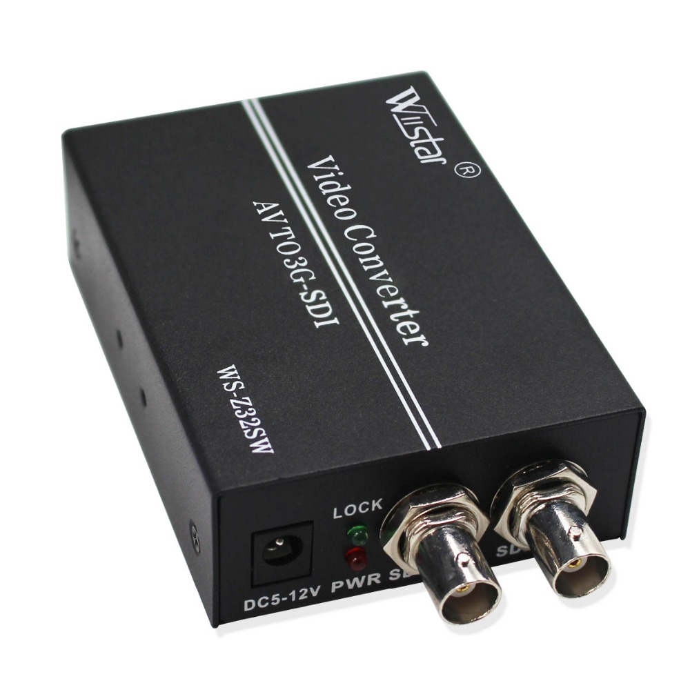 Wiistar AV to SDI Converter SD HD 3G SDI RCA to SDI BNC Audio Video Adapter