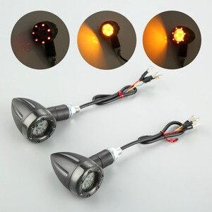 Image 5 - Clignotant pour motos LED, phare de course arrière feu stop, ambre LED, DC12V, 2 pièces/4 pièces