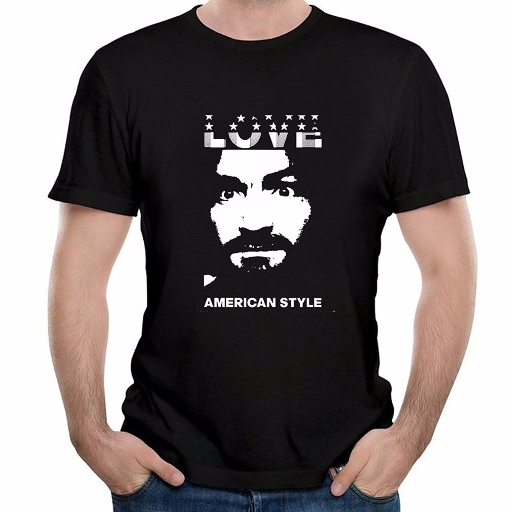 2017 sommer Neue Mode Streetwear Kurzarm T Shirts Charles Manson Casual männer...