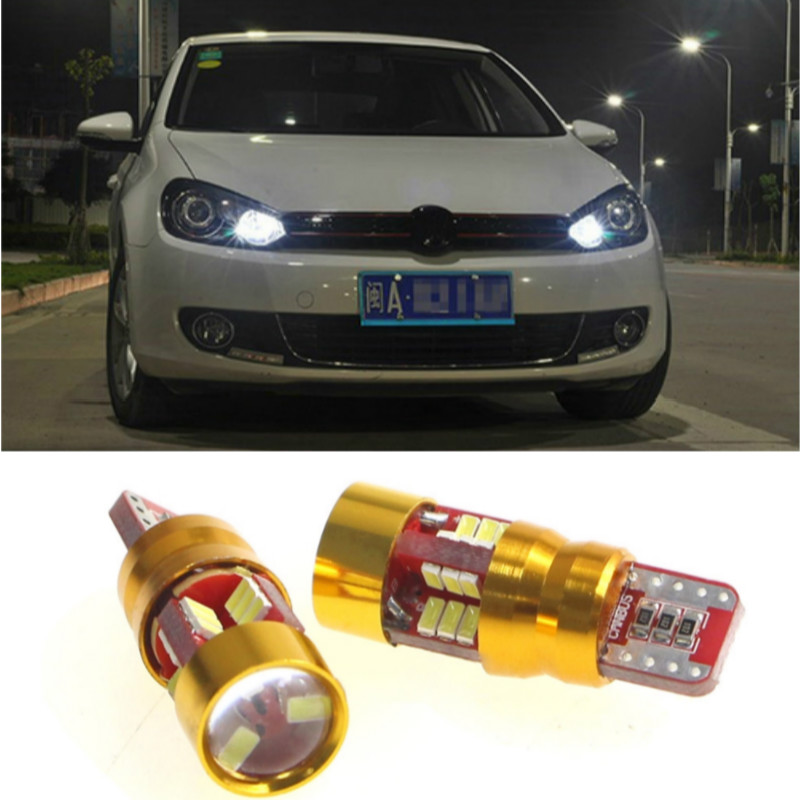 T10 <font><b>Led</b></font> W5w Universal Canbus Car <font><b>Light</b></font> Bulb With Projector Lens For <font><b>Golf</b></font> 6 7 <font><b>5</b></font> 4 Touran Beetle Polo VW Touare.g Passat B7 B5 B6 image