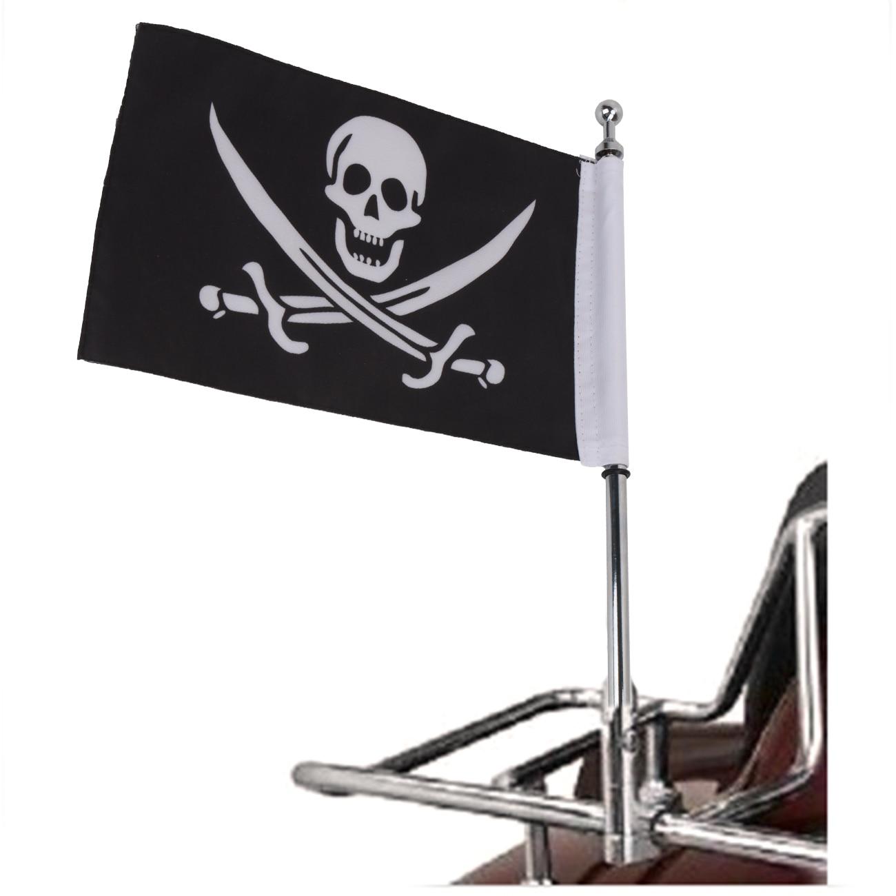 Cool Skull Pirate Flag Motorcycle Bike Rear Mount Flag Pole Adjustable Mounting Bracket For Harley Yamaha Honda #MBG001-C bmbe табурет pirate