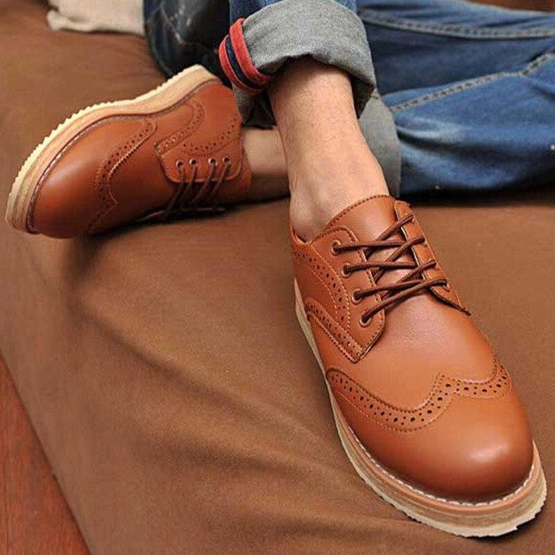 Nuevo Cordón de La Manera Zapato con una Sola Zapatos Oxford Hueco Señaló zapato