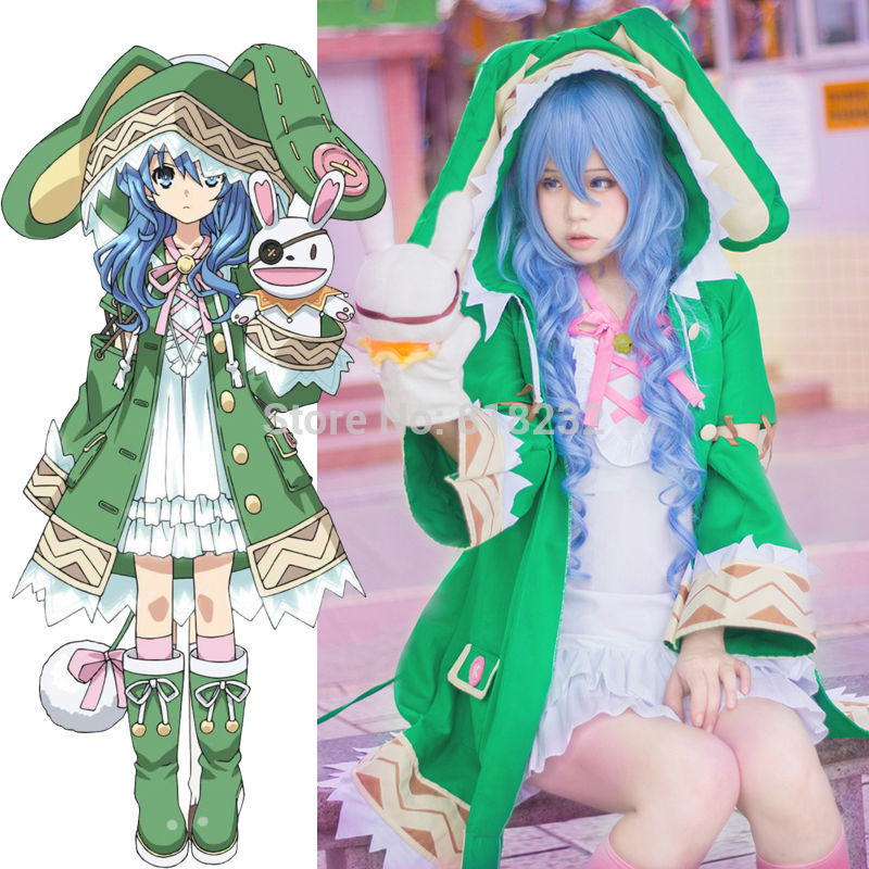 DATE A LIVE Yoshino Halloween Elves Dress Uniform Outfit Anime Cosplay Costumes