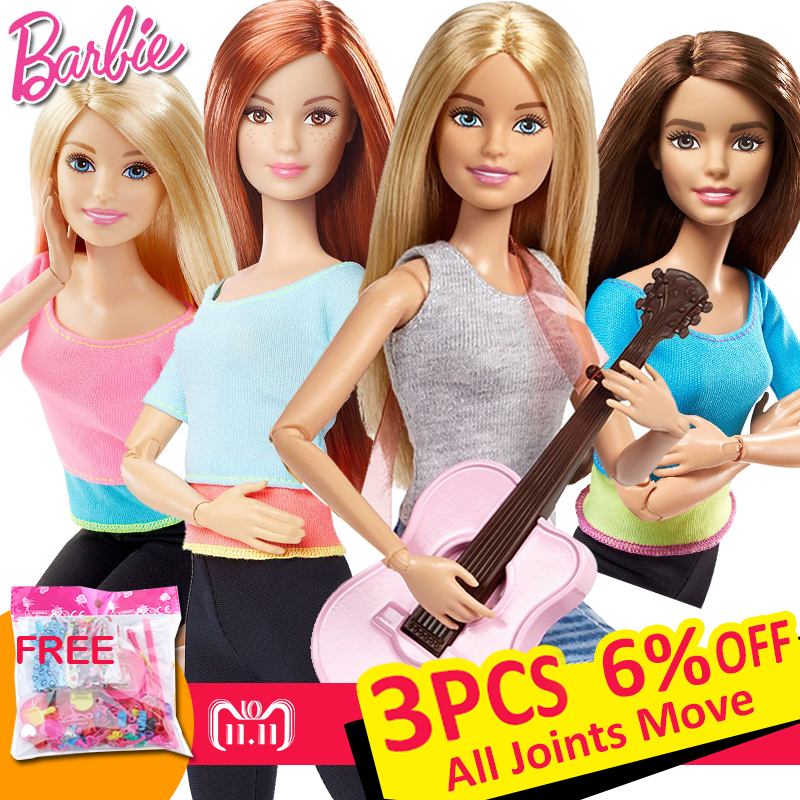 Original Barbie Brand American Girl Dolls 6 Style Yoga Gymnas Joints Movement Toys For Children The Girl A Birthday Gift Bonecas barbie originais hair feature doll house coloring activity american girl dolls barbie dolls brinquedos boneca children gift fbh6