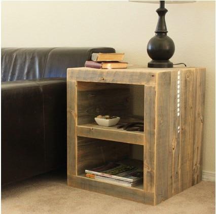 pays damrique pour faire le vieux loft meubles en bois table de chevet tiroirs