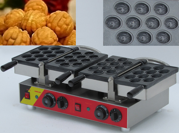 Cake making machine, cakes baking machine; Electric walnut snack machine;walnut waffle maker baker machine