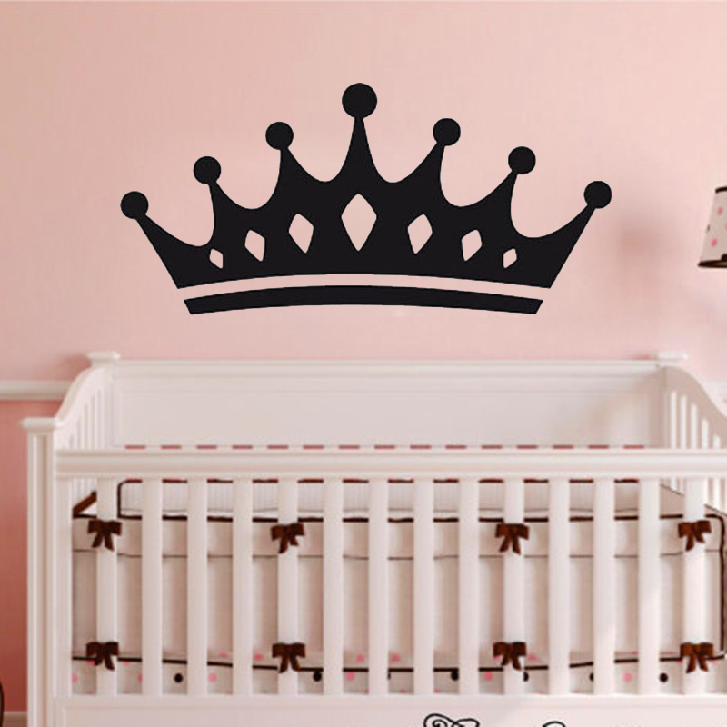 Queen crown wall stickers home decor living room for Crown decorations home