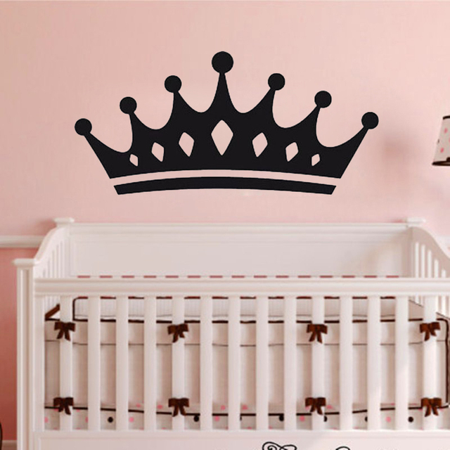 Queen Crown Wall Stickers Home Decor Living Room Decoration Wall Decals  Vinyl Sticker For Baby Girls
