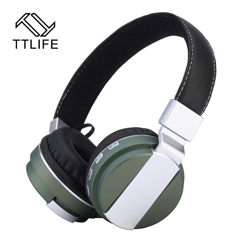 New Arrival TTLIFE BT53 Bluetooth Wireless Headsets Foldable TF Card FM Radio Earphone Dual Stereo Headphones With Microphone lexin 2pcs max2 motorcycle bluetooth helmet intercommunicador wireless bt moto waterproof interphone intercom headsets
