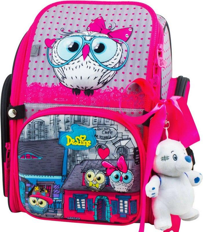 الشهيرة العلامة التجارية Delune الاطفال حقيبة المدرسة الابتدائية الأطفال 3D البومة سيارات المدرسية الفتيان الفتيات للماء حقائب مدرسية تساعد على تقويم العظام-في حقائب مدرسية من حقائب وأمتعة على  مجموعة 1