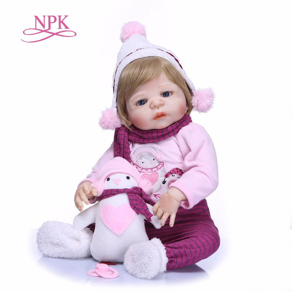 NPK New Arrival 56cm Silicone Full Body Reborn Doll Real Life Princess Baby Doll For Children