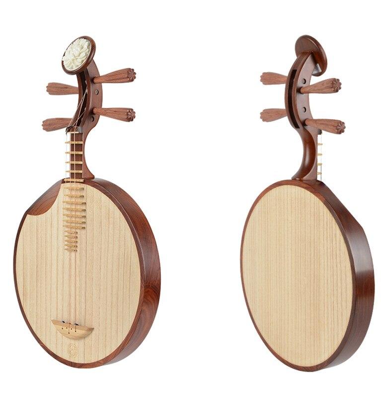 Instrument de musique National chinois yu-kin Paulownia matériau bois Yue Qin avec sac