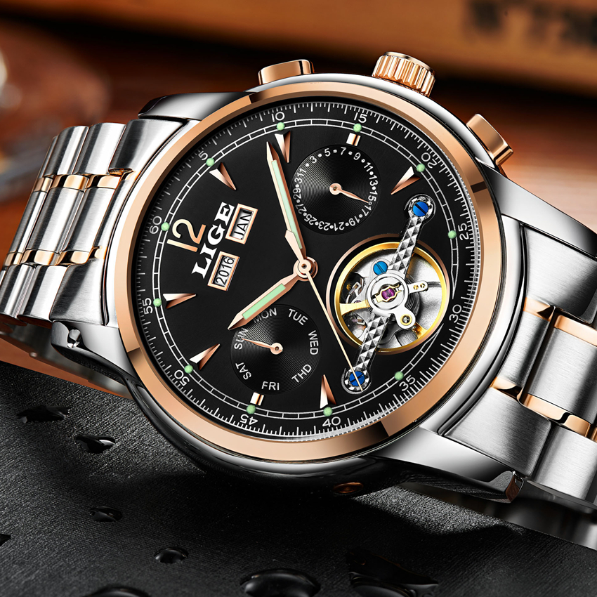 2018LIGE Mens WatchesTop Brand Luxury Mens Automatic Mechanical Watch Mens Fashion Business Waterproof Watch Relogio Masculino2018LIGE Mens WatchesTop Brand Luxury Mens Automatic Mechanical Watch Mens Fashion Business Waterproof Watch Relogio Masculino