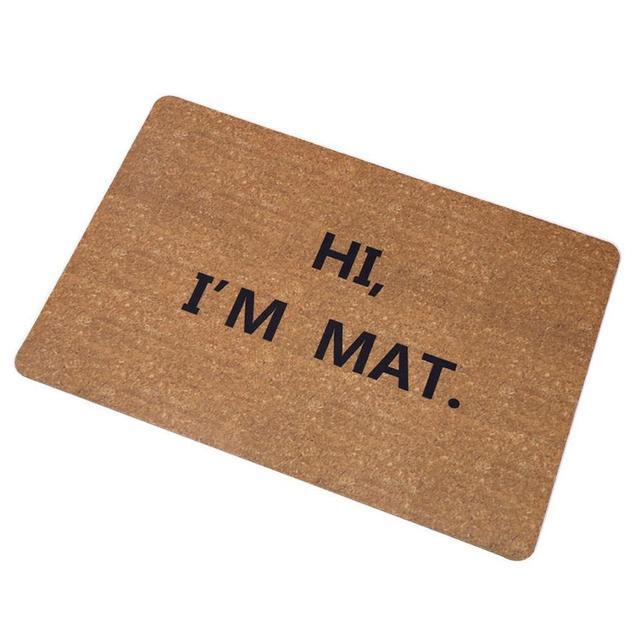 New Creative Door Mat Star Go Away Rubber Floor Rug Non Slip Doormat Carpet#