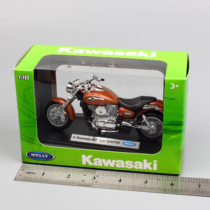 Image 5 - 1:18 scale small welly 2002 Kawasaki VN Vulcan 1500 MEAN STREAK classic motorcycle cruiser Motorbike model Diecast toy for Kids