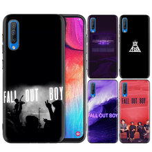 El negro de silicona bolsa caso para cubrir Samsung Galaxy M10 M20 M30 S8 S9 S10 S10e 5G J3 J4 J5 j8 Plus 2018 S7 Edge Fall Out Boy(China)