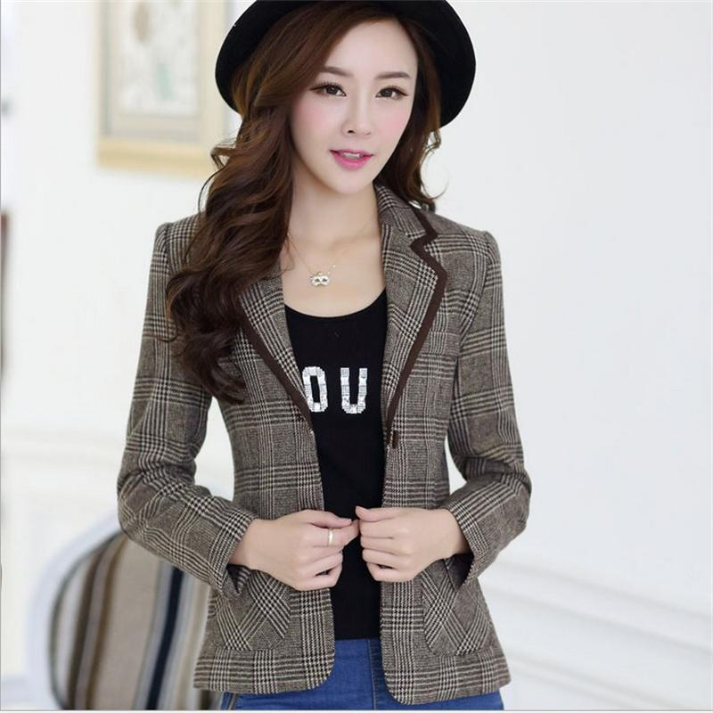 Popular Womens Plaid Blazer-Buy Cheap Womens Plaid Blazer lots ...
