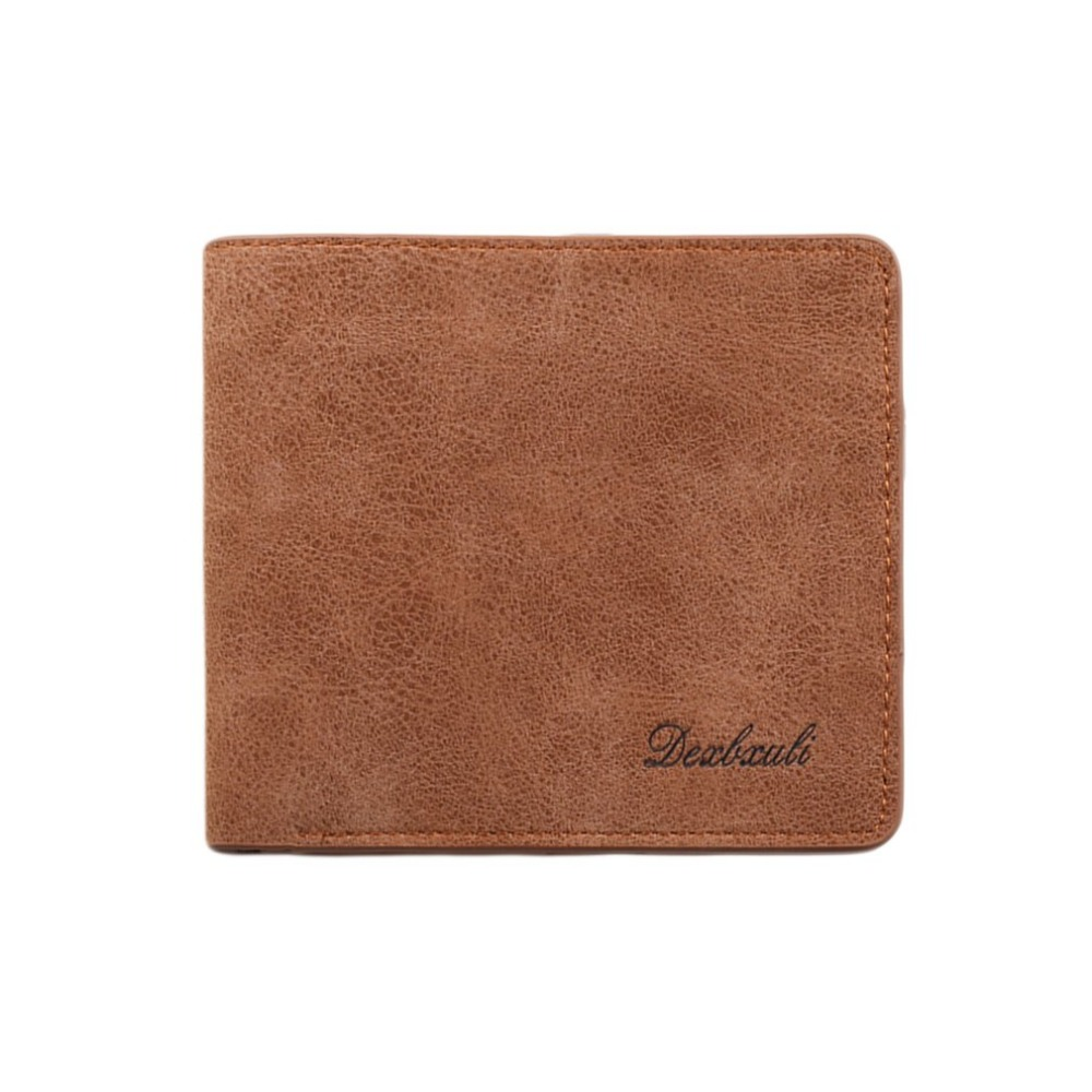 New Men Short Wallet Ultra Thin Soft Leather Money Credit Cards ID Card Organizer Wallet With Vintage Design Multi-Cards Slots aequeen genuine leather wallet mens short purse cowhide wallets credit card holders money pouch organizer bank id cards carteria