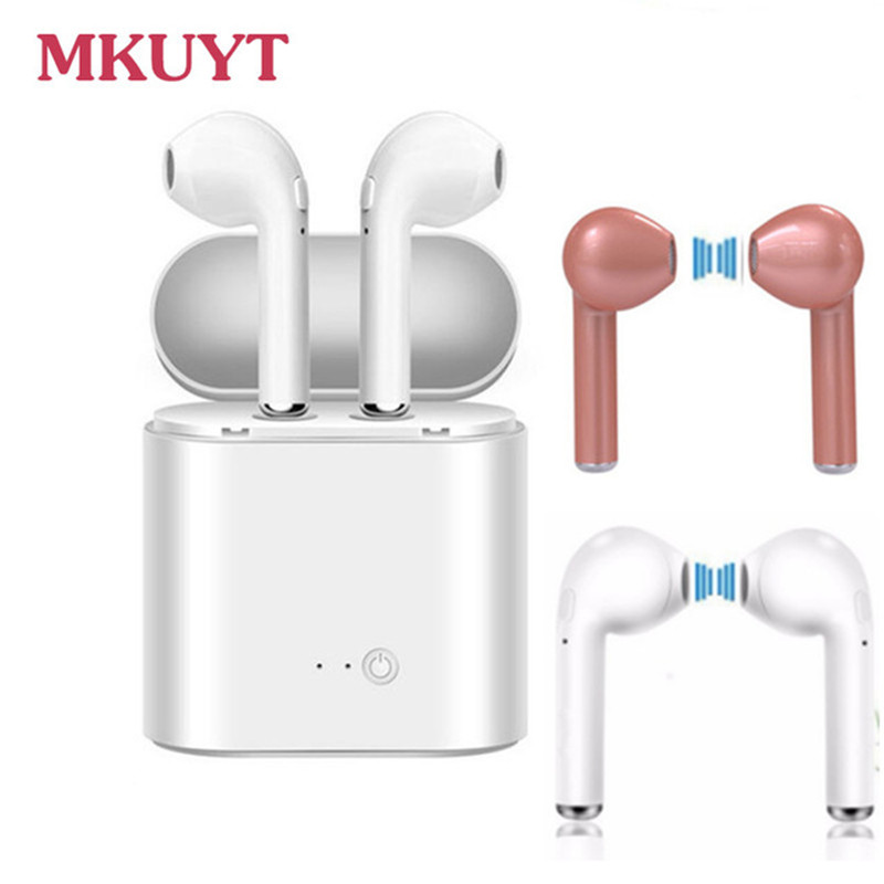 MKUYT i7 Wireless Bluetooth Earphone Stereo Headset Sports Headphone for iPhone 7 plus 7 6s 6 plus Samsung xiaomi for Huawei LG sport wireless bluetooth headset headphone stereo earphone for iphone 6 6s plus samsung lg