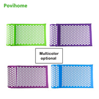 Povihome Chinese Acupressure Therapy Cushion Massage Mat Set Relieve Stress Pain Acupuncture Spike Yoga Mat With