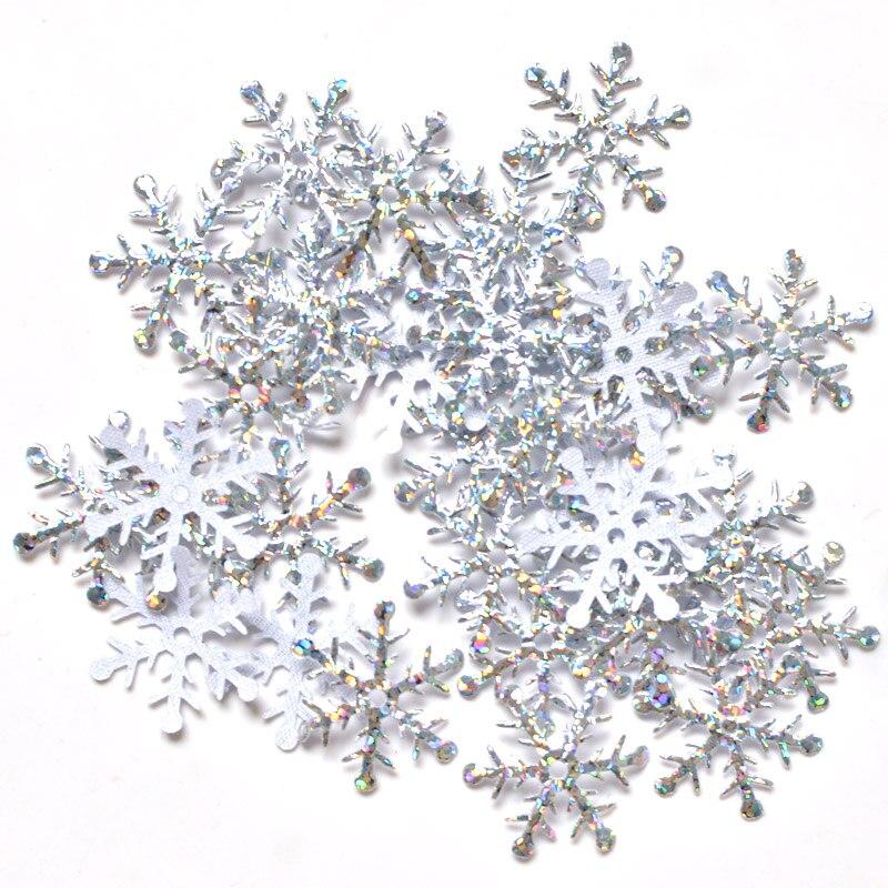 400 шт. 25 мм Снежинка блеск лазерная ткань Аппликации Свадебные/вечерние/венок/Рождественский Декор ремесел DIY аксессуары оптовая продажа K26
