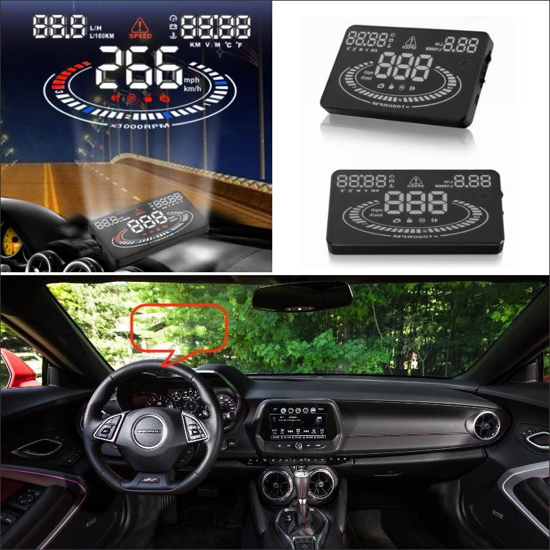 Auto Hud Head Up Display Voor Chevrolet Camaro Ss 2015 2016 Refkecting Voorruit Screen Veilig Rijden Scherm Projector