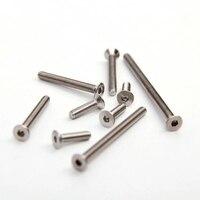 304 stainless steel flat head hexagon socket head screw countersunk head bolt M2 M2.5